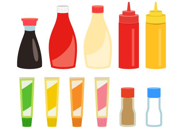 調味料の保存方法や期限など。